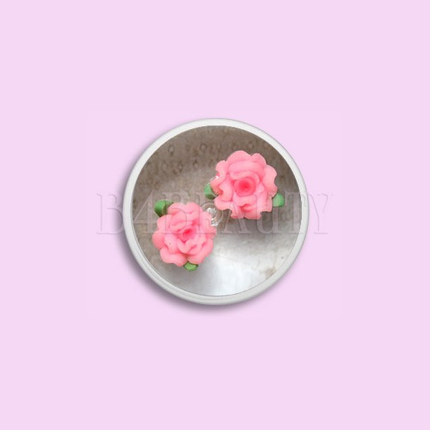 Store Baby Pink 2 stk. · Keramik Blomster · Nail Art