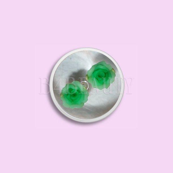 Store Grønne2 stk. · Keramik Blomster · Nail Art