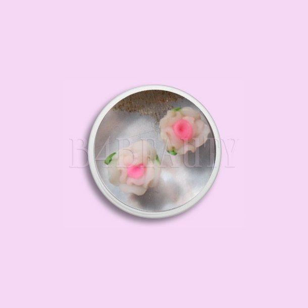 Store Hvide 2 stk. · Keramik Blomster · Nail Art