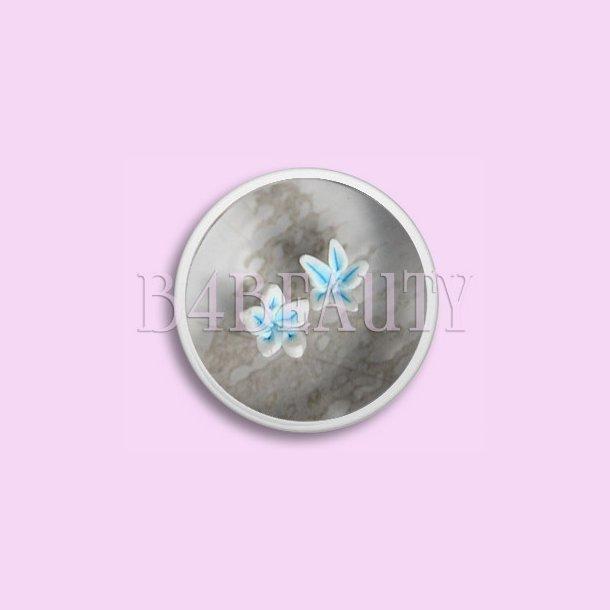 Små Blå 2 stk. · Keramik Blomster · Nail Art