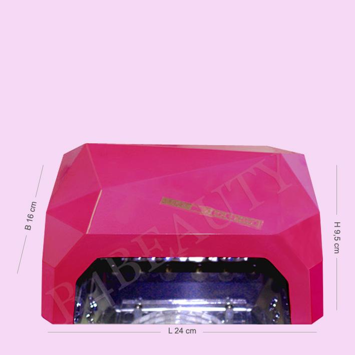 Gel LED Lampe LED 36 Watt. In Pink Color | Buy now