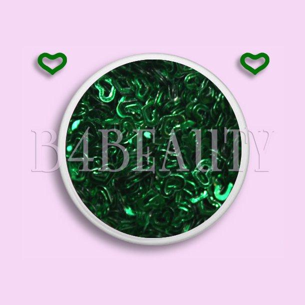 Mørke Grøn Metal 3,5 ml. · Hule Hjerter · Nail Art