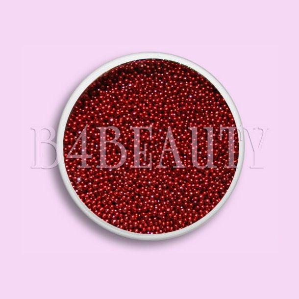 Rød 3,5 ml. · Metal Perler · Nail Art