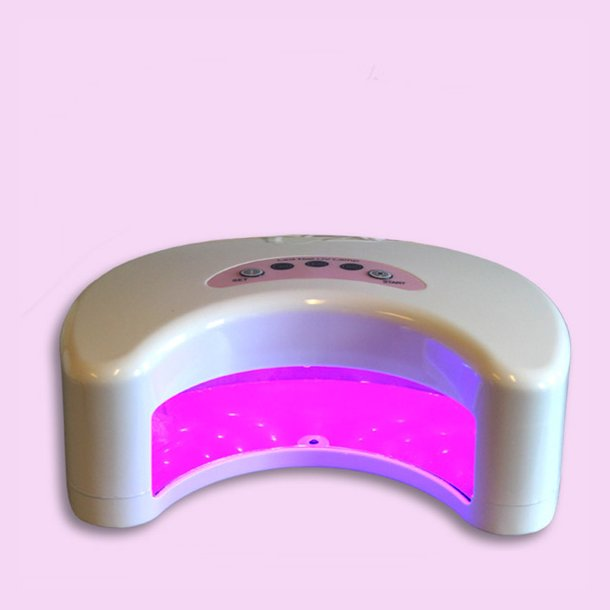 LED/UV Gele Lampe 12 Watt. ( Hvid ) · B4B