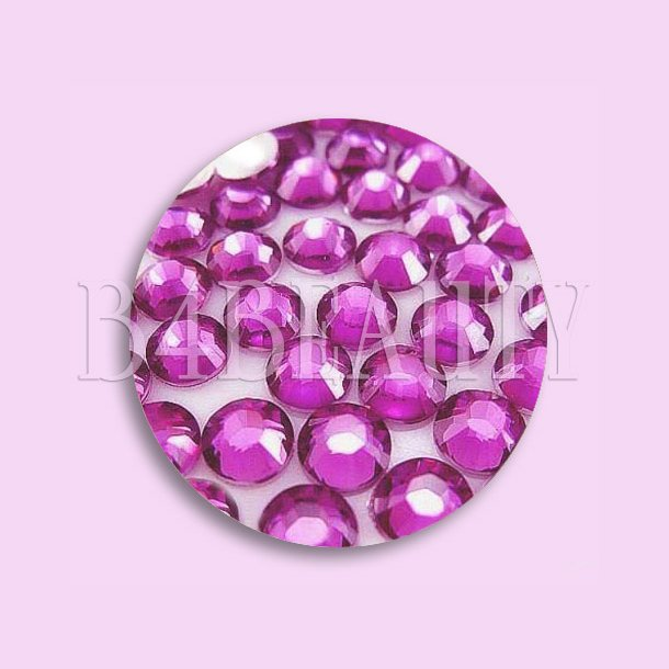 Pink 1,6 mm. 100 stk. · Rhinestone · Nail Art