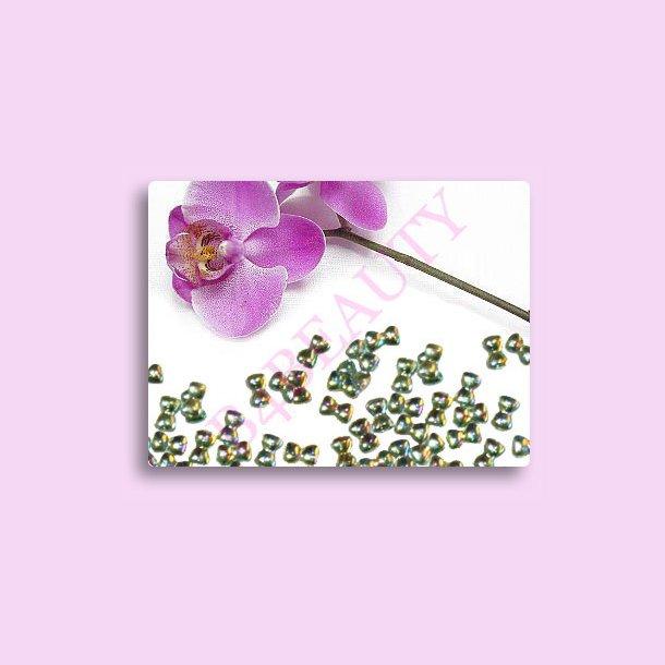 Green Butterfly 100 stk. · Rhinestone · Nail Art