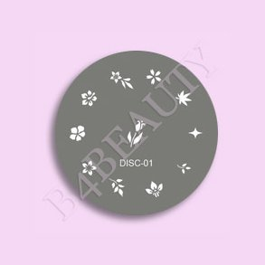 Nail art stamp b4beauty denmarks online nail webshop nail supply disc 01 stamp nail art prinsesfo Image collections