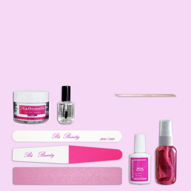 B4B Akryl Negle Dip Kit · Negleforstærkning · Start Pakker